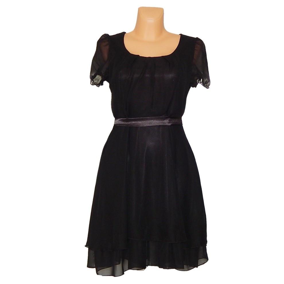 PROM Dámské párty a plesové šaty středně dlouhé černé - Černá / M - OEM černá M