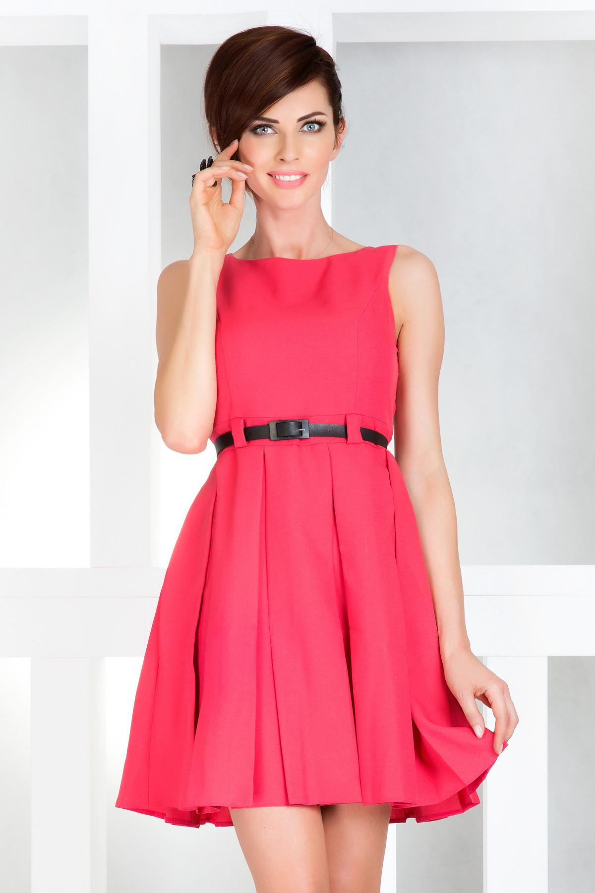 Dámské společenské šaty NUMOCO s páskem středně dlouhé růžové - Růžová / XL - Numoco růžová XL
