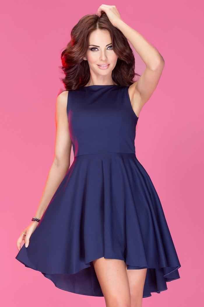 Dámské šaty ASYMETRIC exkluzivní Lacoste modré - Tmavě modrá - Numoco tmavě modrá M