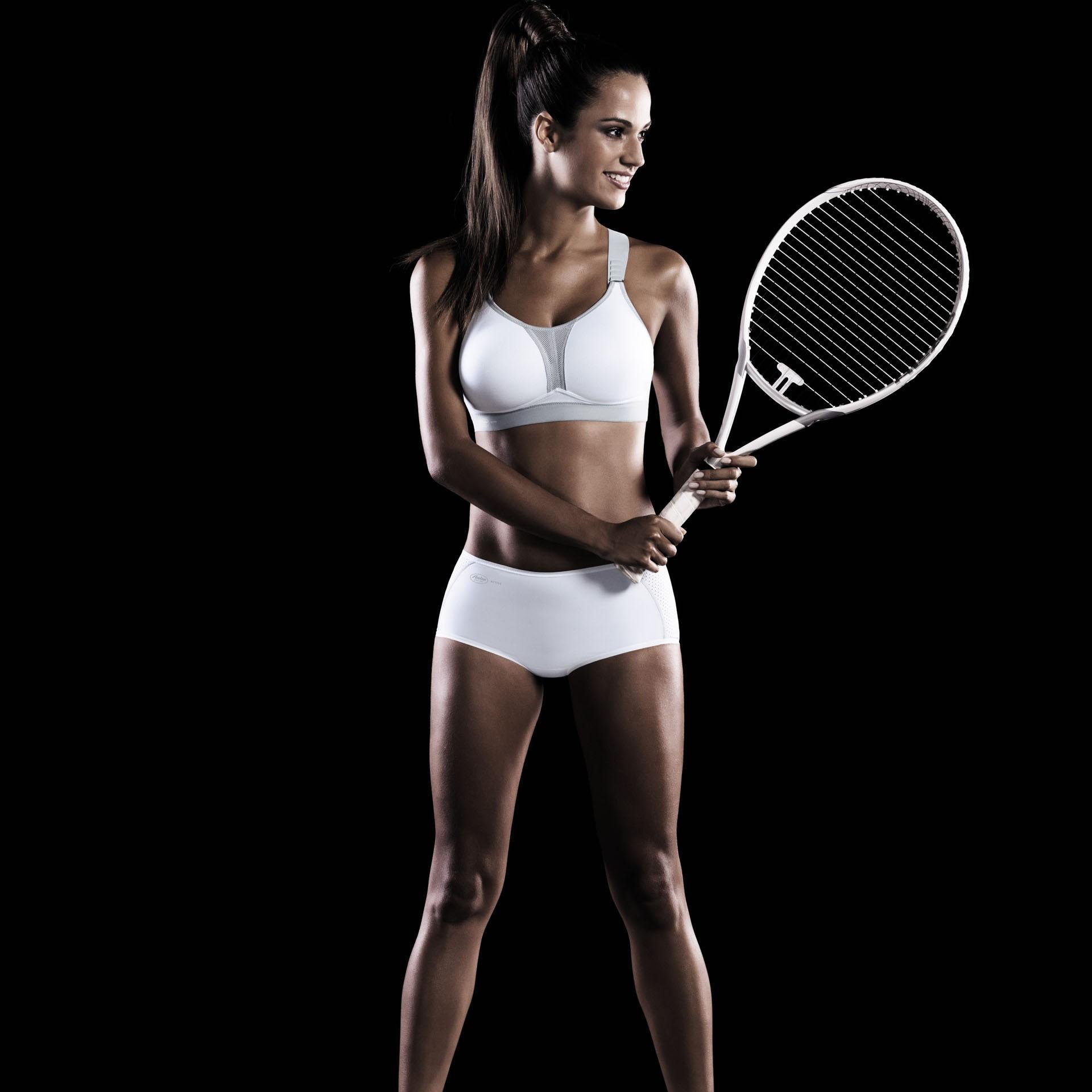 Sportovní podprsenka DynamiX Star 5537 - Anita Barva: bílá s šedou, Velikost: 75A