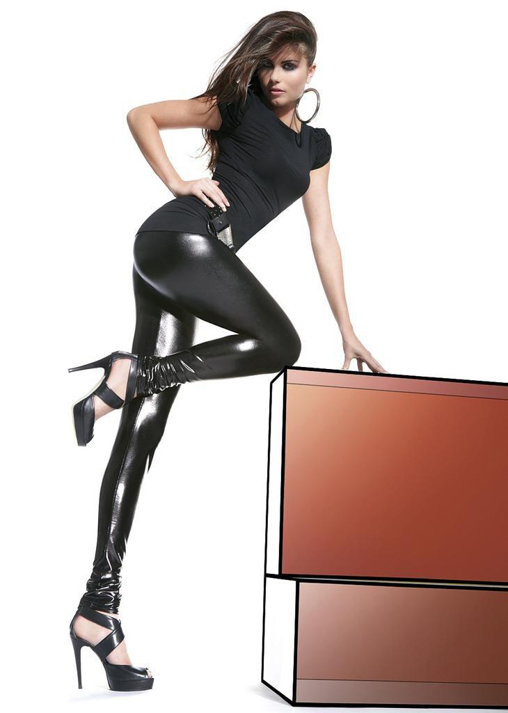 Legíny Niki - Bas Bleu Barva: černá, Velikost: M