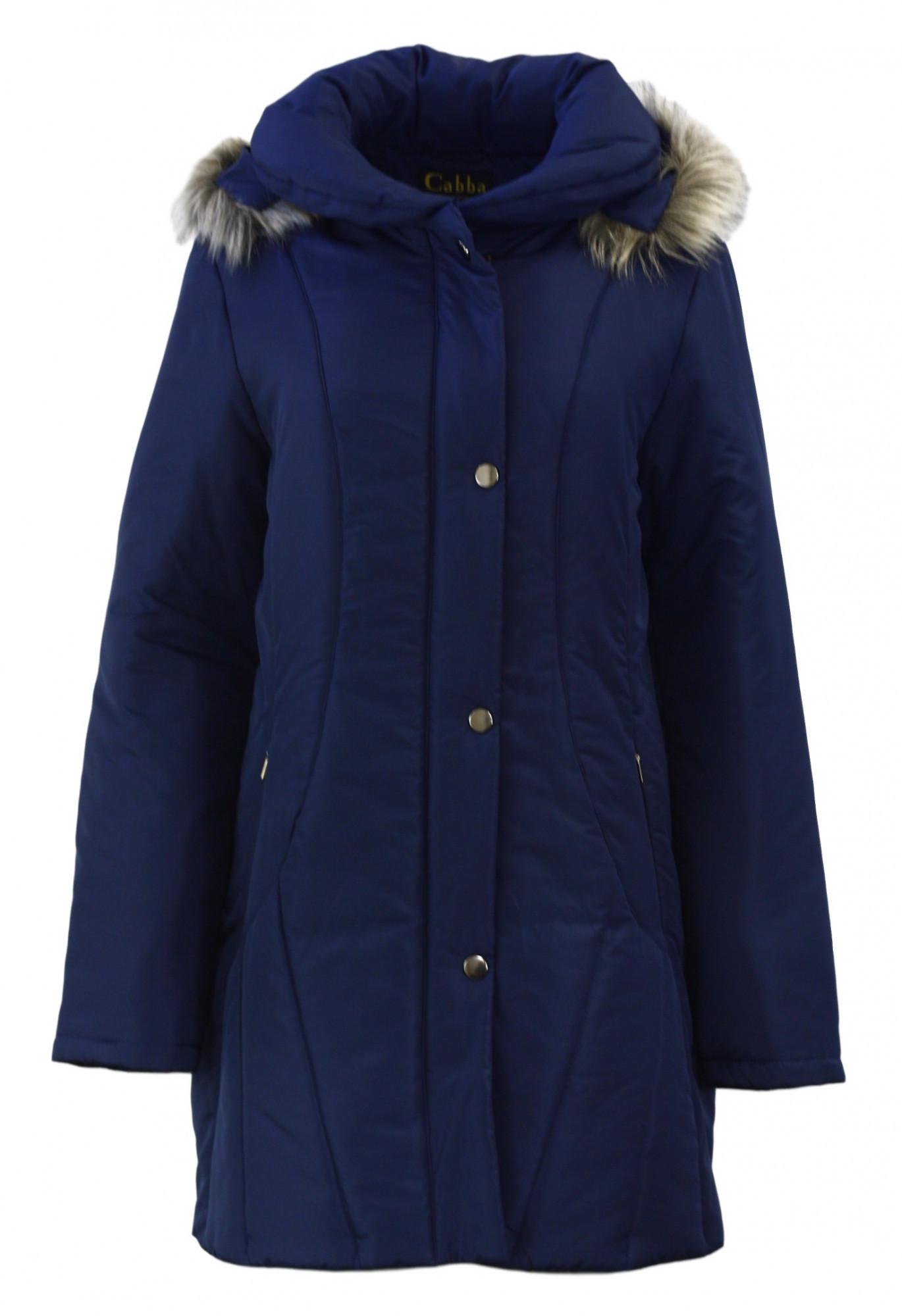 Dámská zimní bunda 63553 - Cabba Barva: modrá, Velikost: 52
