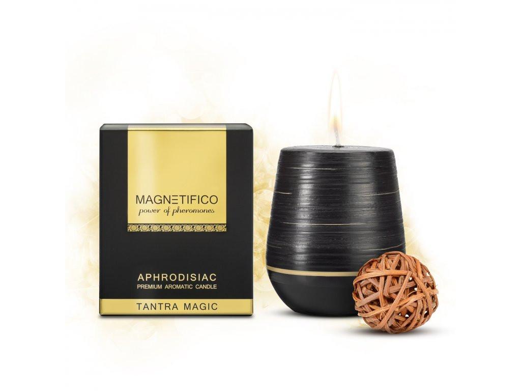 Afrodiziakální vonná svíčka Magnetifico Aphrodisiac Candle Tantra Magic - Valavani černá uni