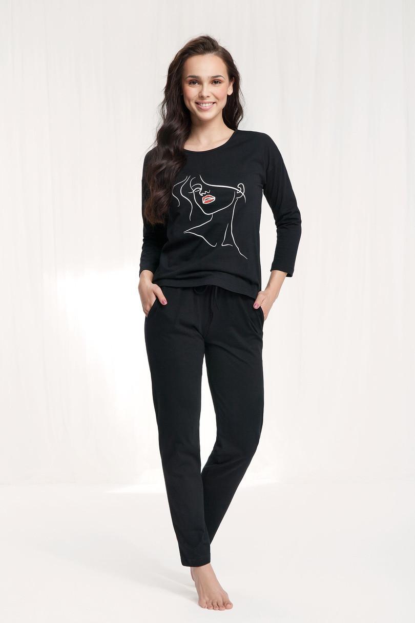 Dámské pyžamo 521 BLACK\RED XL