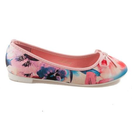 Unikátní růžové dámské baleríny s květy 37
