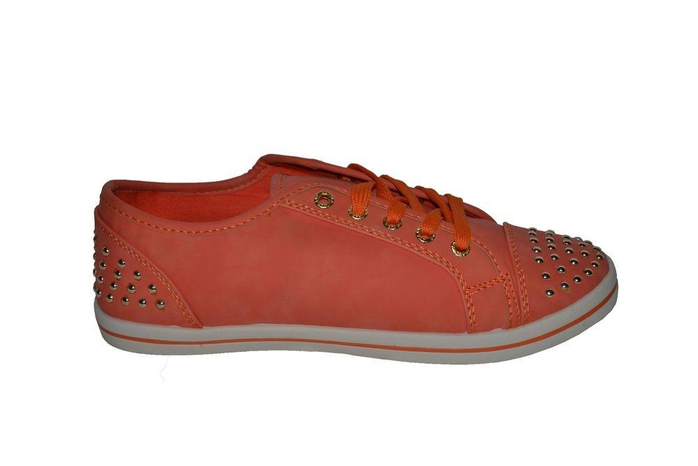 Nízké oranžové tenisky 38