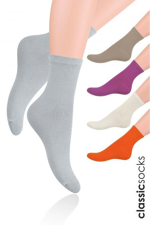 Hladké dámské ponožky Steven art.037 béžová 38-40