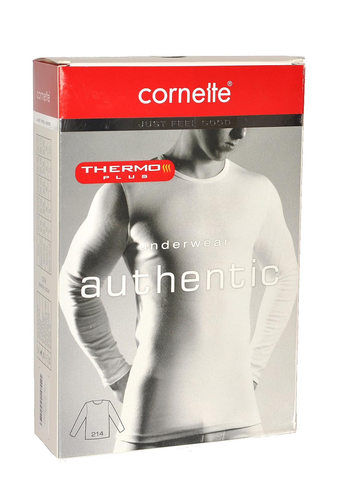 Pánský nátělník Cornette Authentic Thermo Plus 214 Barva: černá, Velikost: S
