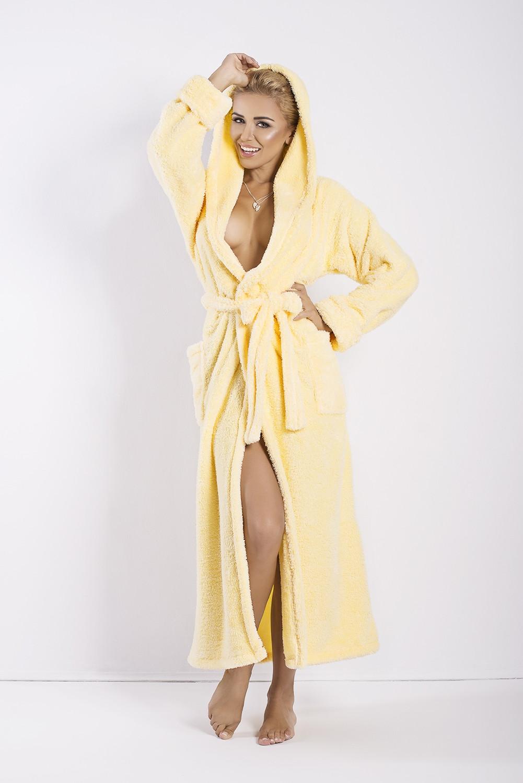 Dámský župan Diana long yellow žlutá S