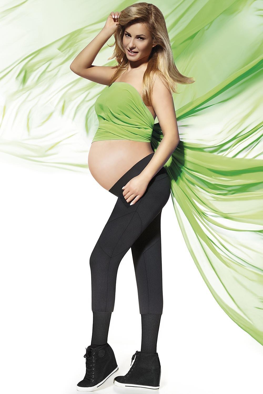 Těhotenské legíny Veronica černá S