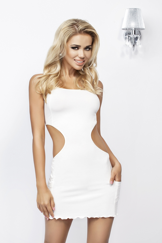 Dámské šaty Linda krémová XL