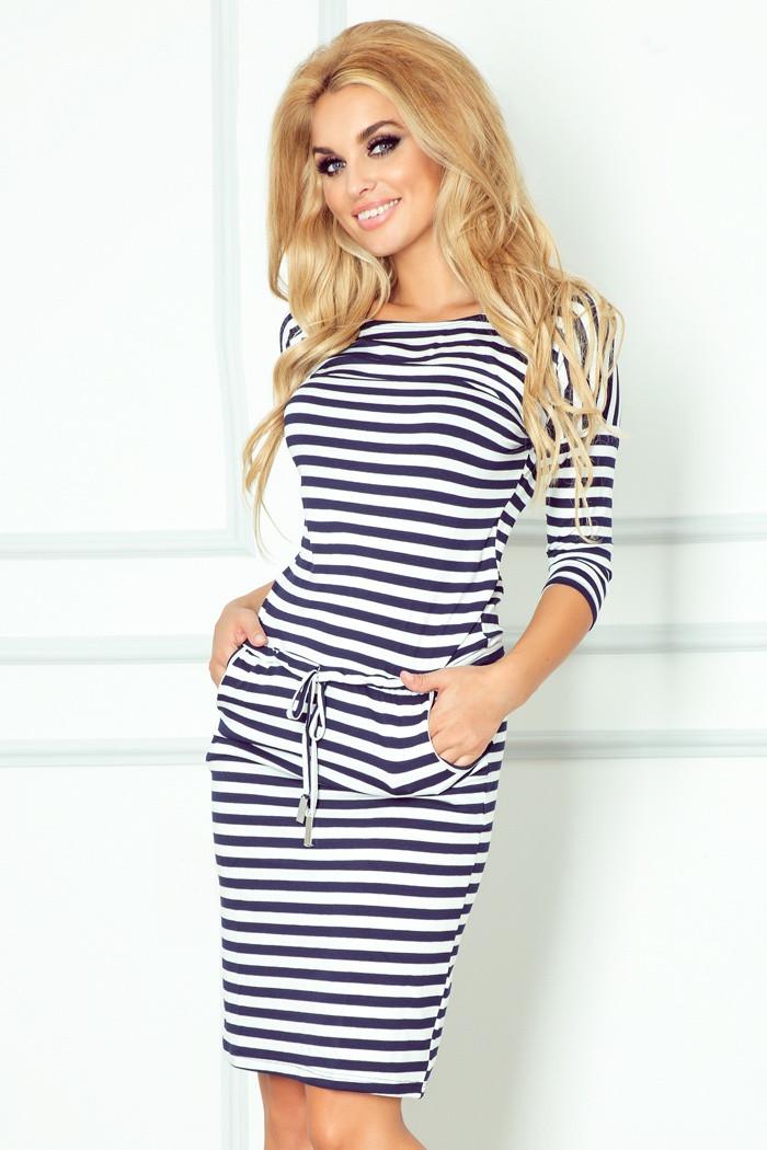 Dámské šaty 13-34 bílo-modrá XS