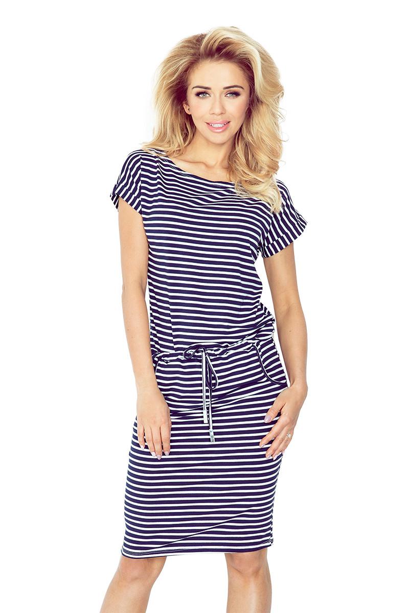 Dámské šaty 139-1 bílo-modrá XS