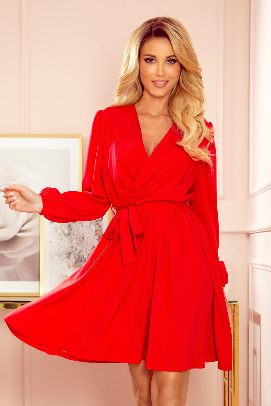 Dámské šaty 339-1 - NUMOCO červená S/M