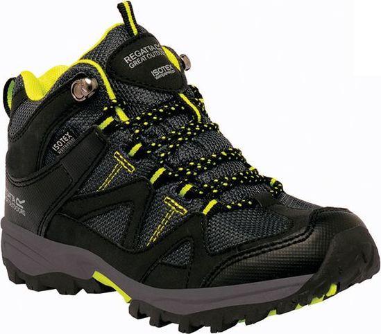 Dětská trekingová obuv REGATTA RKF470 Gatlin Mid Černá 33