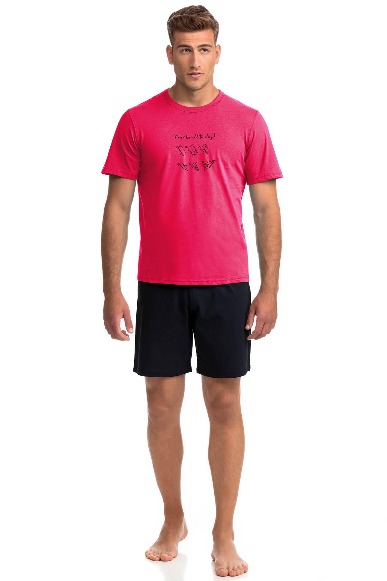 Vamp - Pohodlné dvoudílné pánské pyžamo POPPY RED XL 14935 - Vamp