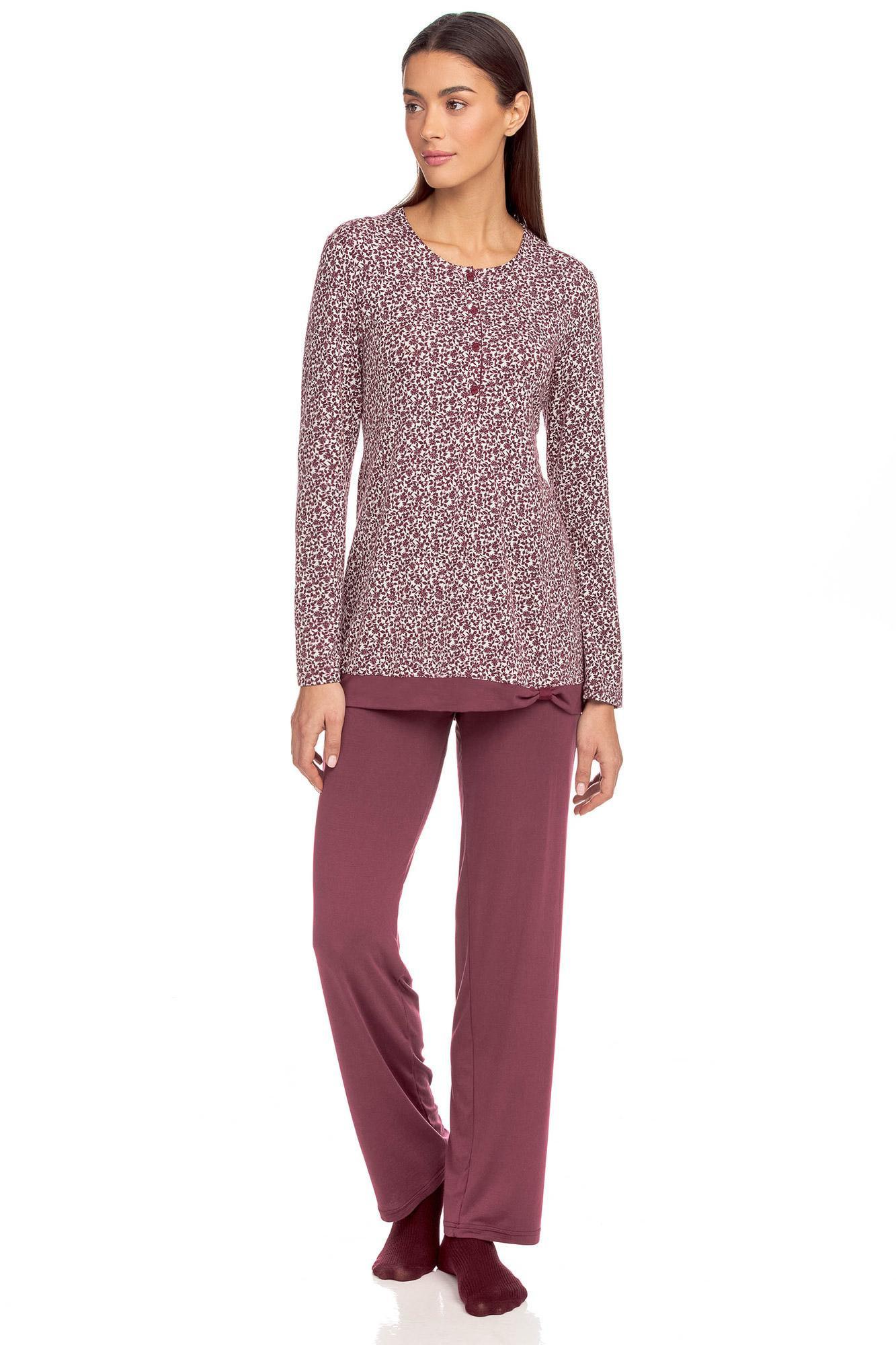 Vamp - Dvoudílné dámské pyžamo Eve RED PORTO XL 15096 - Vamp