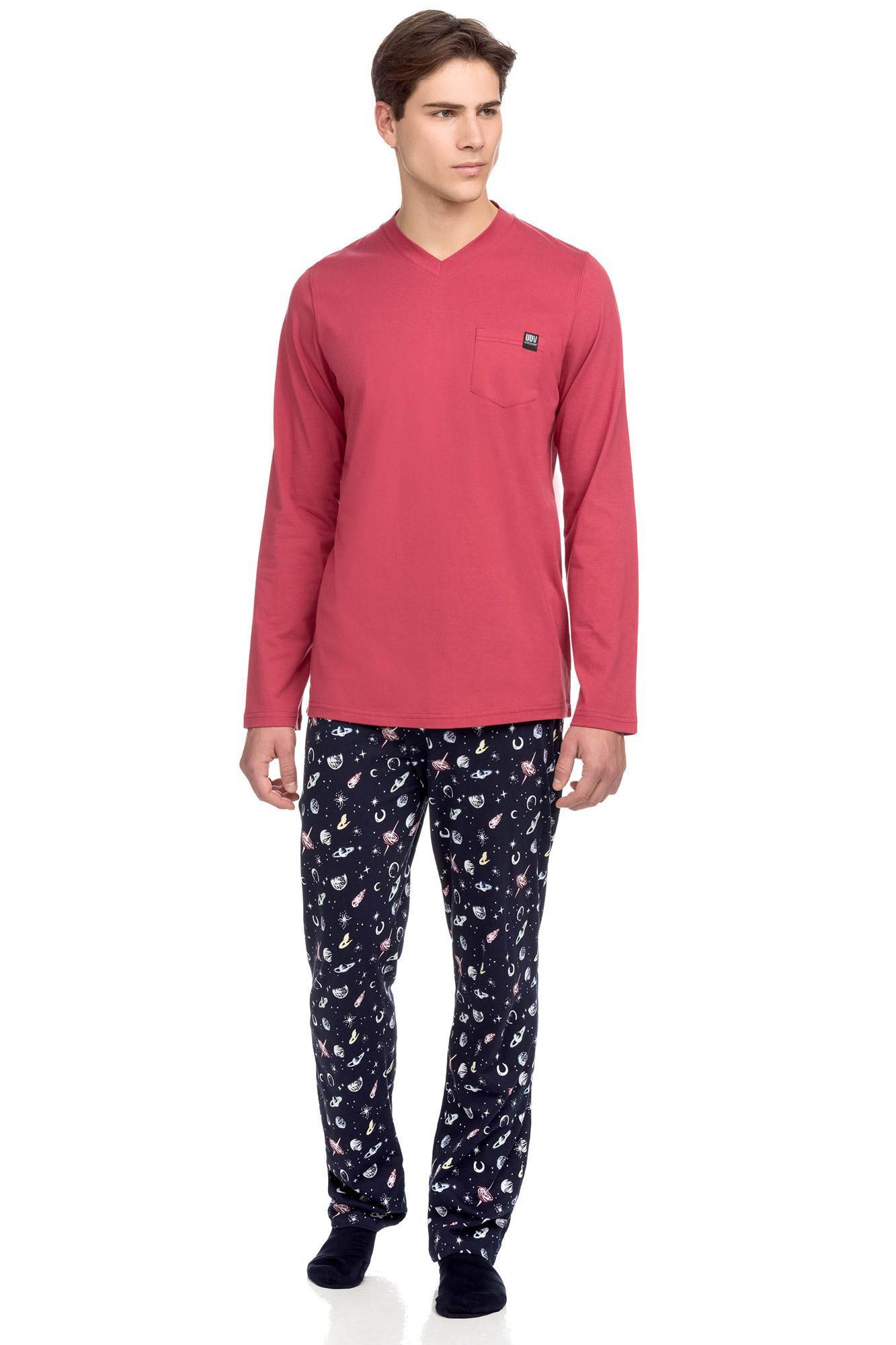 Vamp - Pohodlné pánské pyžamo s kapsičkou RED JESTER XL 15646 - Vamp