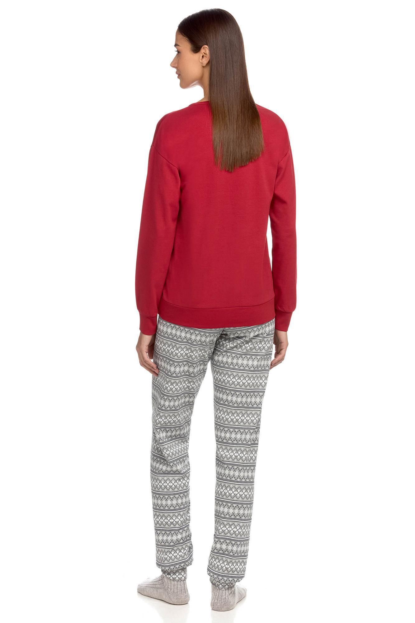 Vamp - Pohodlné dámské pyžamo RED FLAME XL 15675 - Vamp