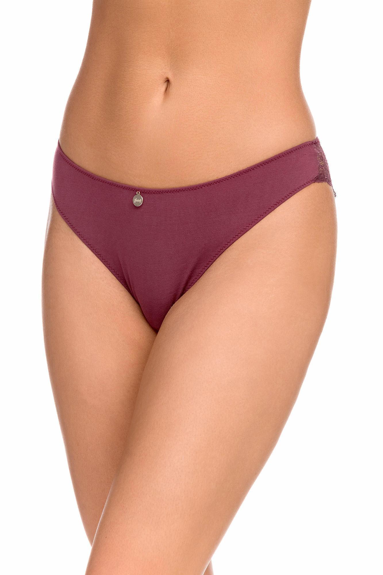 Vamp - Pohodlné jednobarevné dámské kalhotky RED PORTO XL 15829 - Vamp