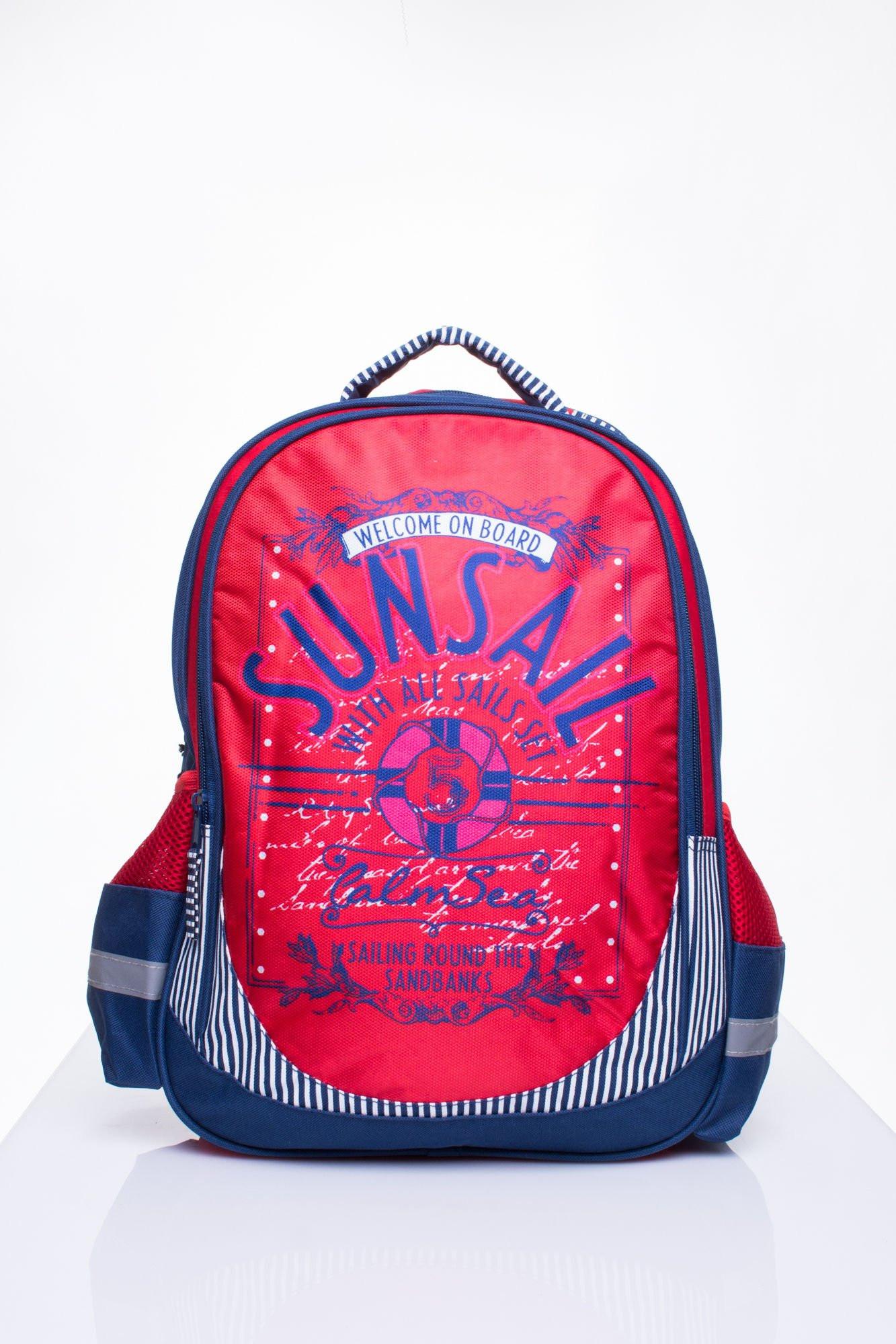 Červený školní batoh s tématem plachtění ONE SIZE