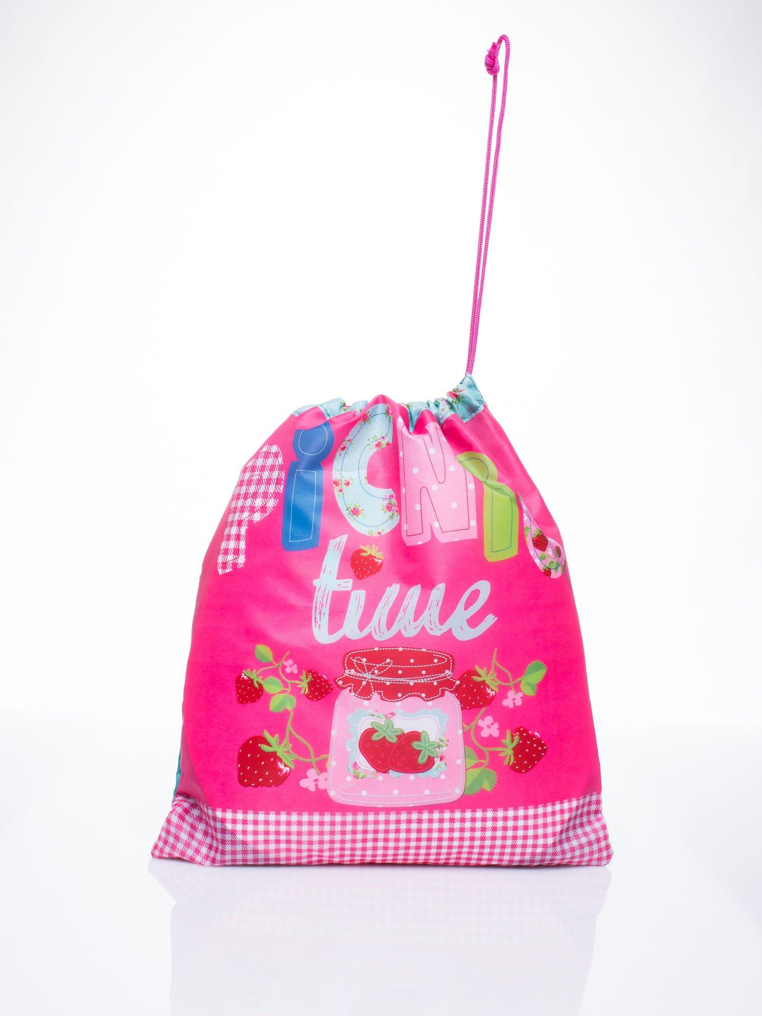 Růžová taška typu batoh s motivem pikniku ONE SIZE