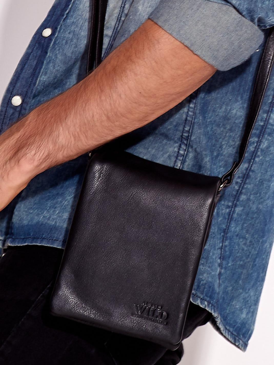 Pánská černá taška přes rameno ONE SIZE