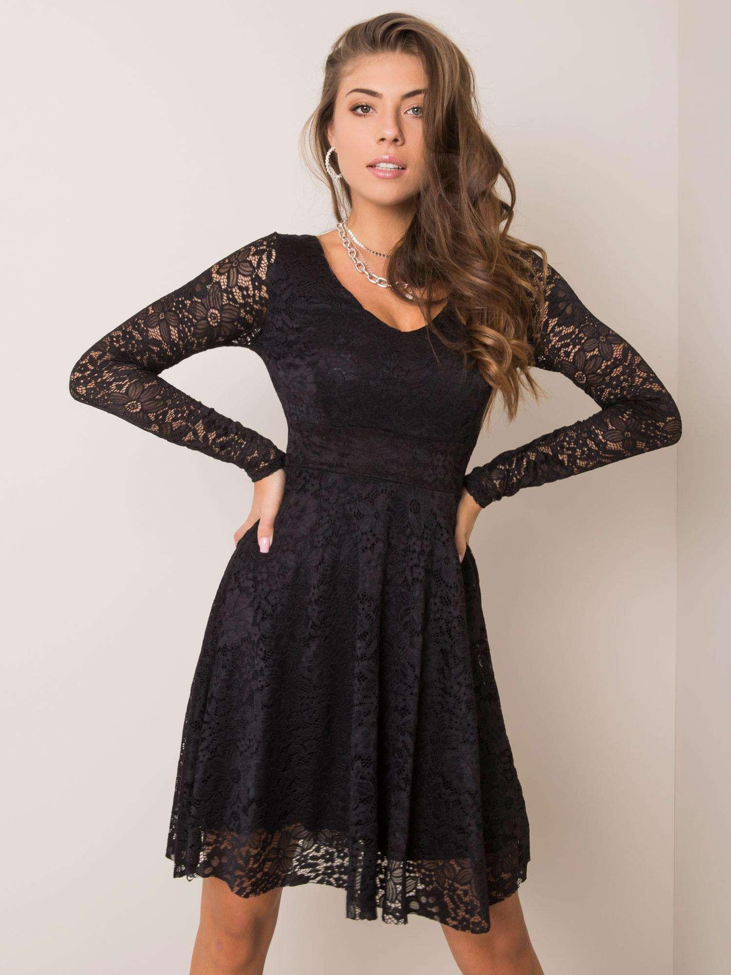 Černé krajkové šaty SUBLEVEL M/L