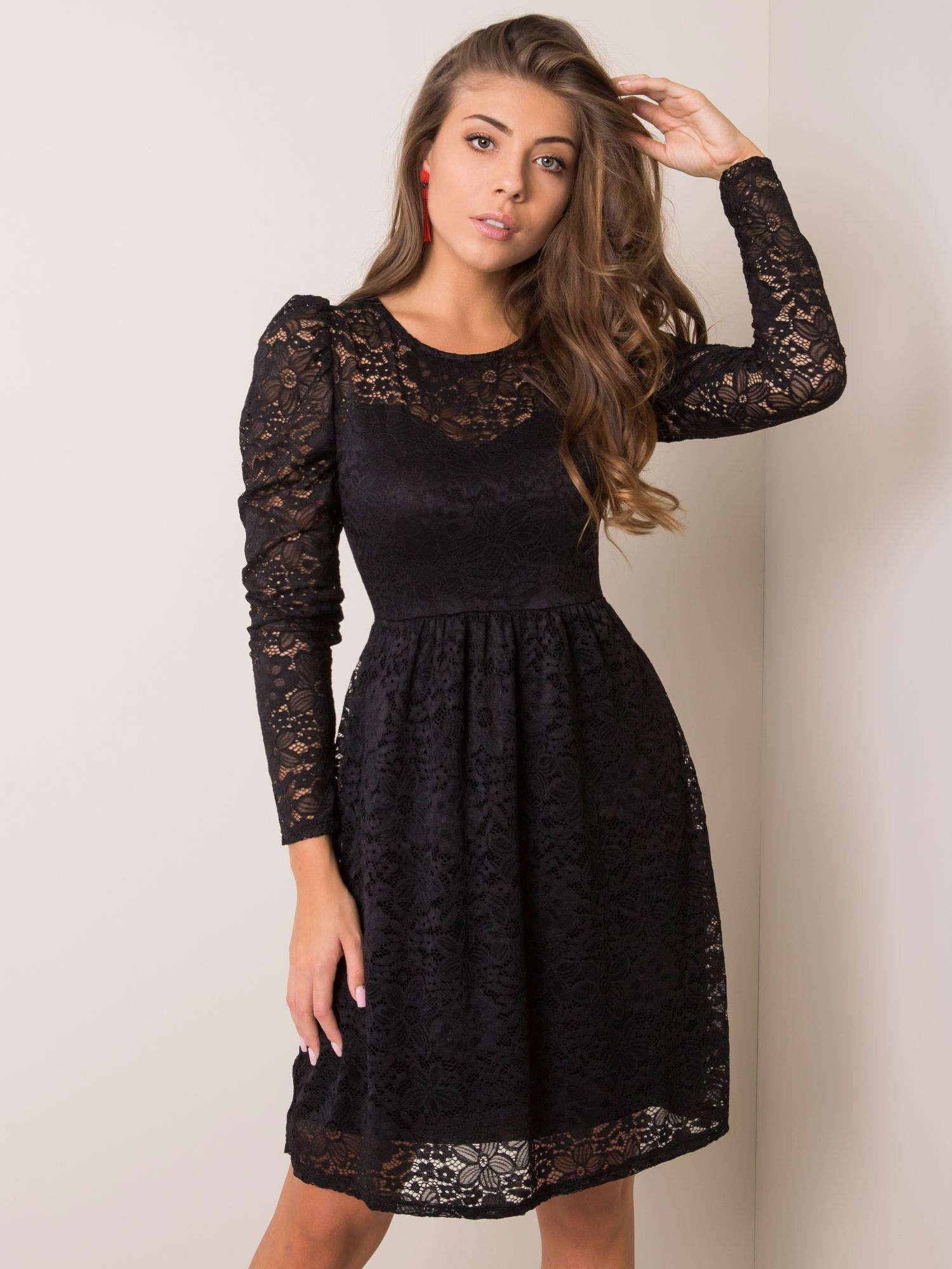 Černé krajkové šaty SUBLEVEL L/XL