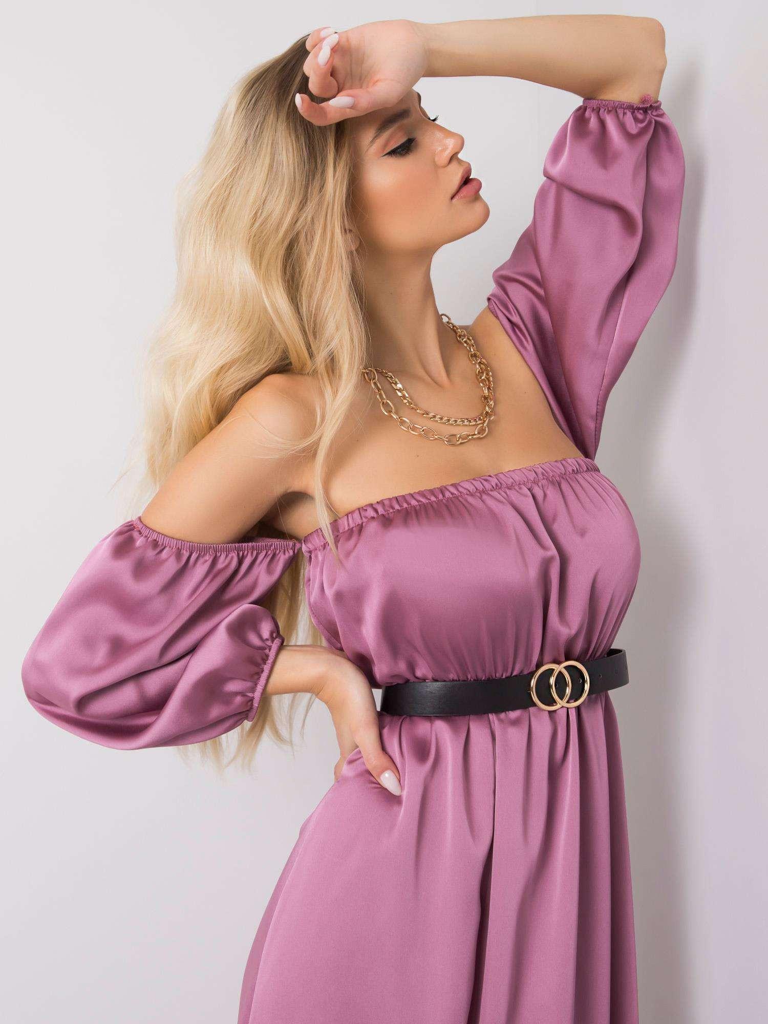 Světle fialové dlouhé španělské šaty ONE SIZE