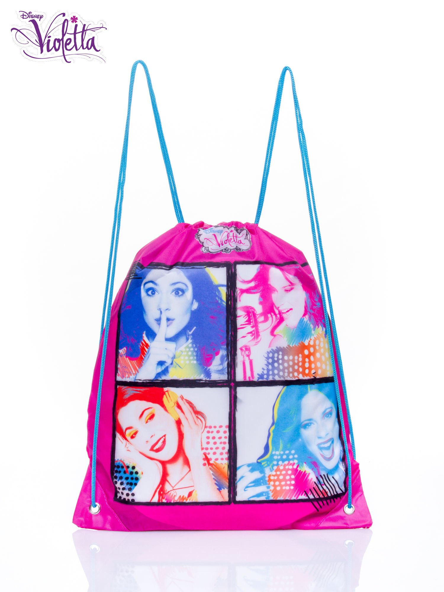 Růžový batoh s taškou Violetta ONE SIZE