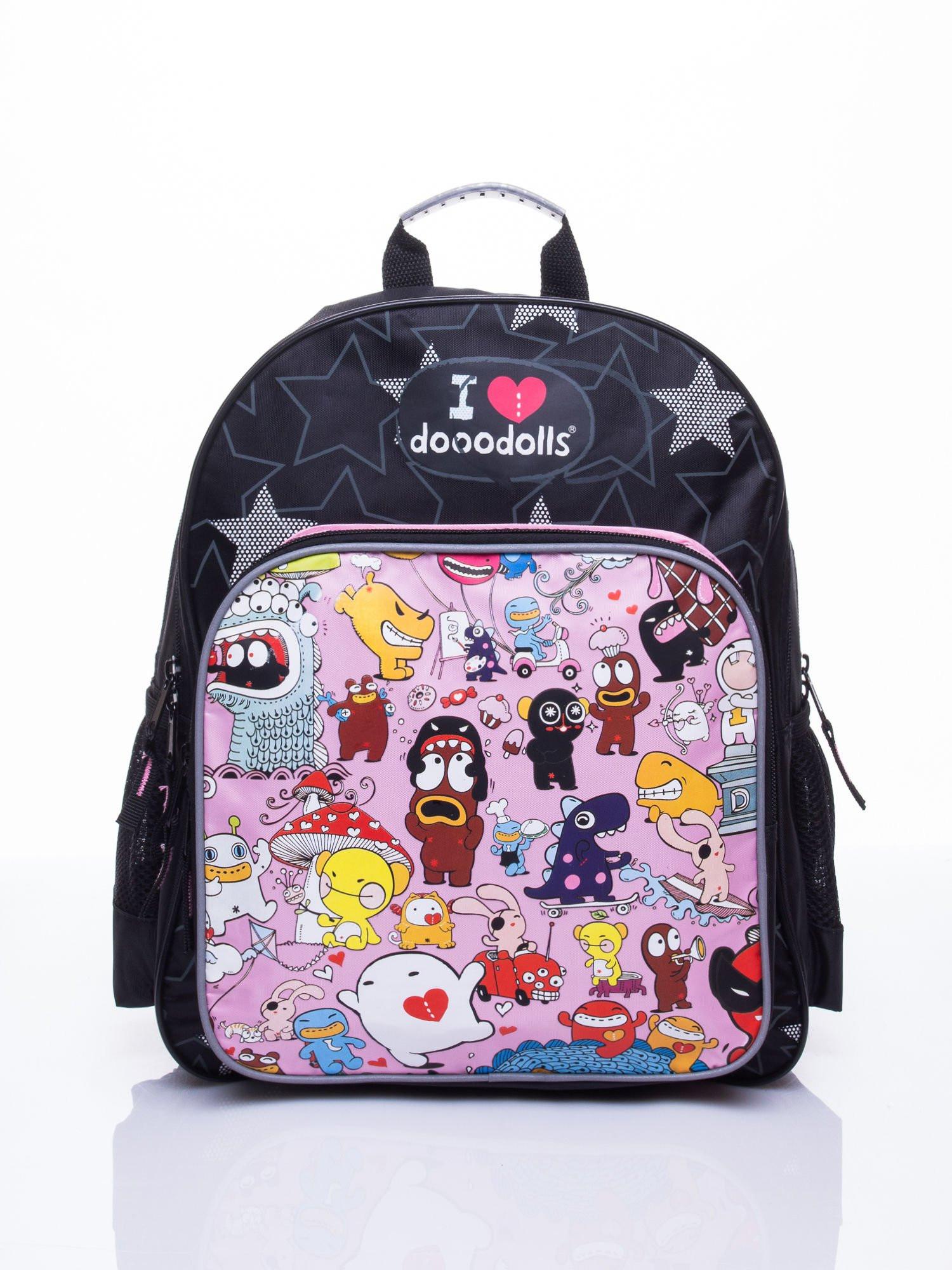 Černý školní batoh s motivem Dooodolls ONE SIZE