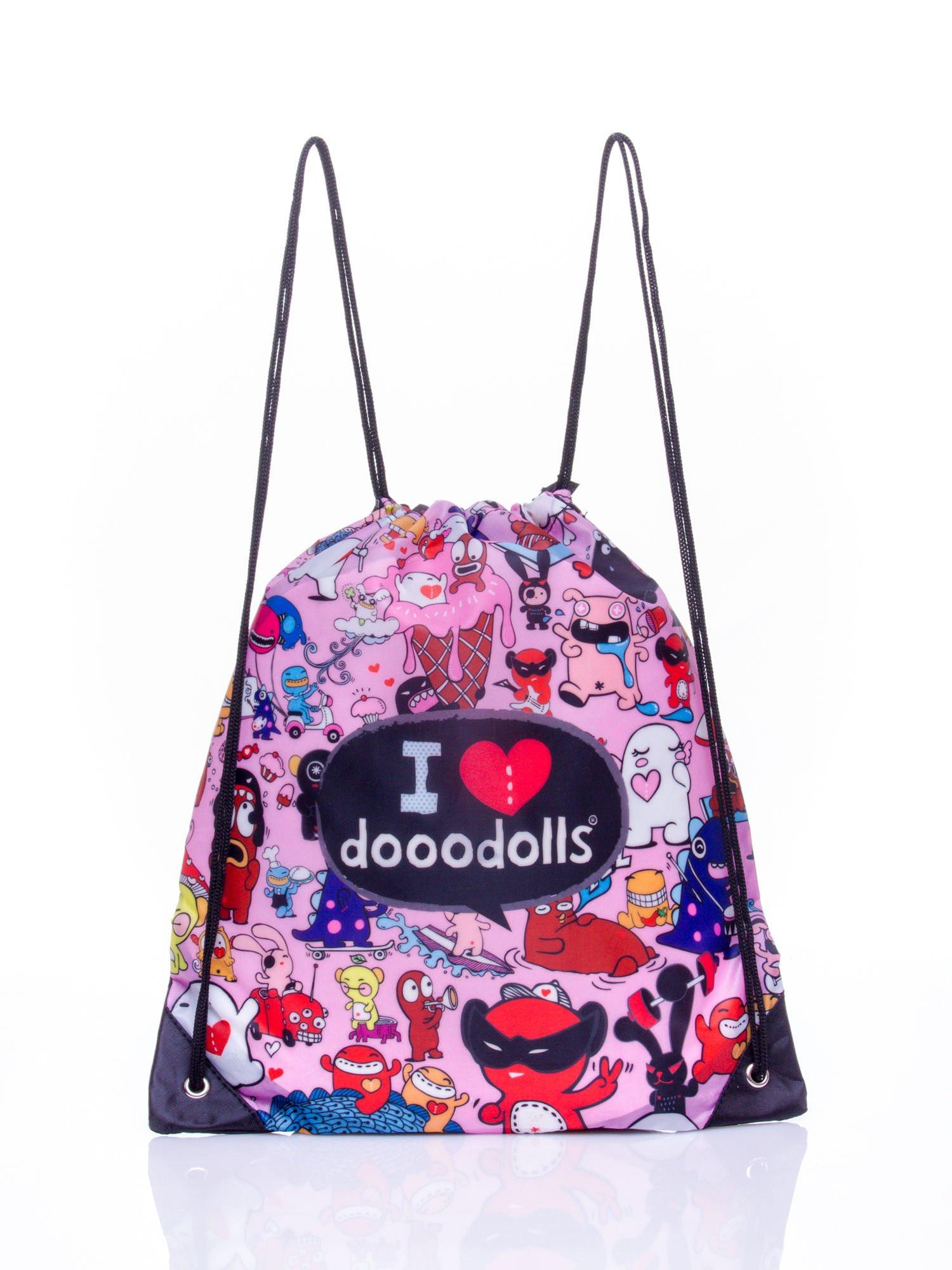 Růžový batoh s motivem Dooodolls ONE SIZE