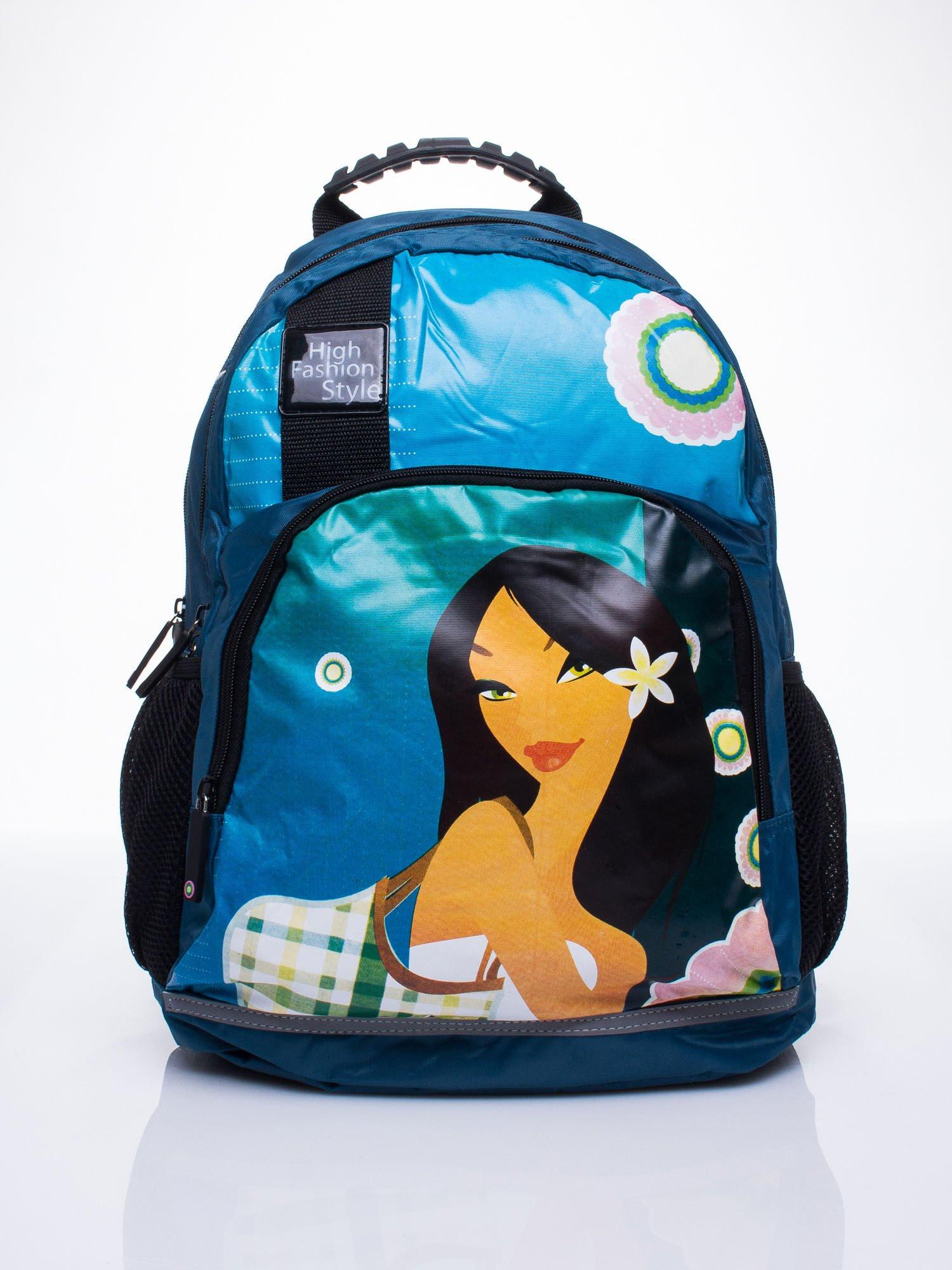 Modrý školní batoh s motivem Mulan ONE SIZE
