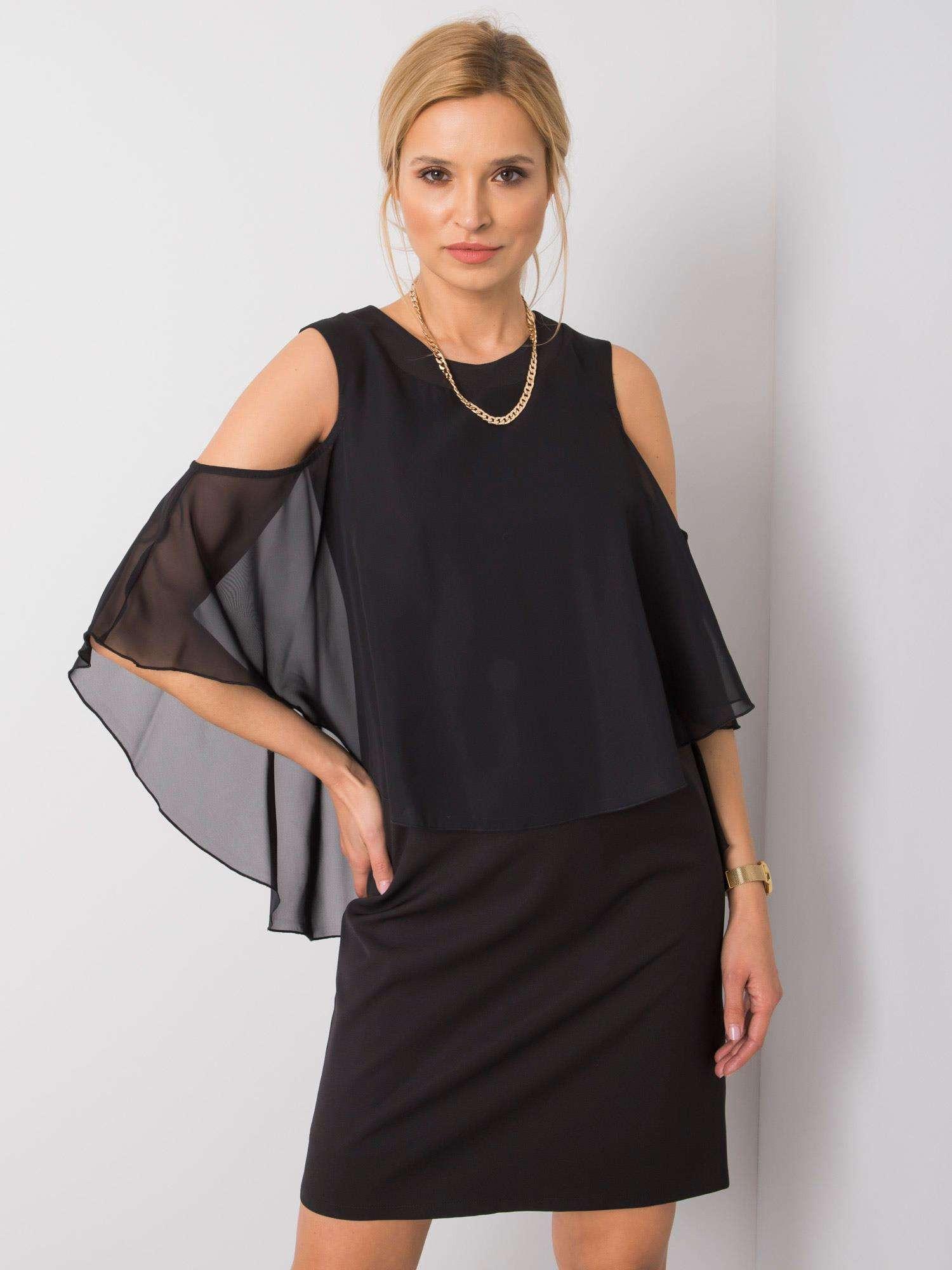 Černé společenské šaty 36