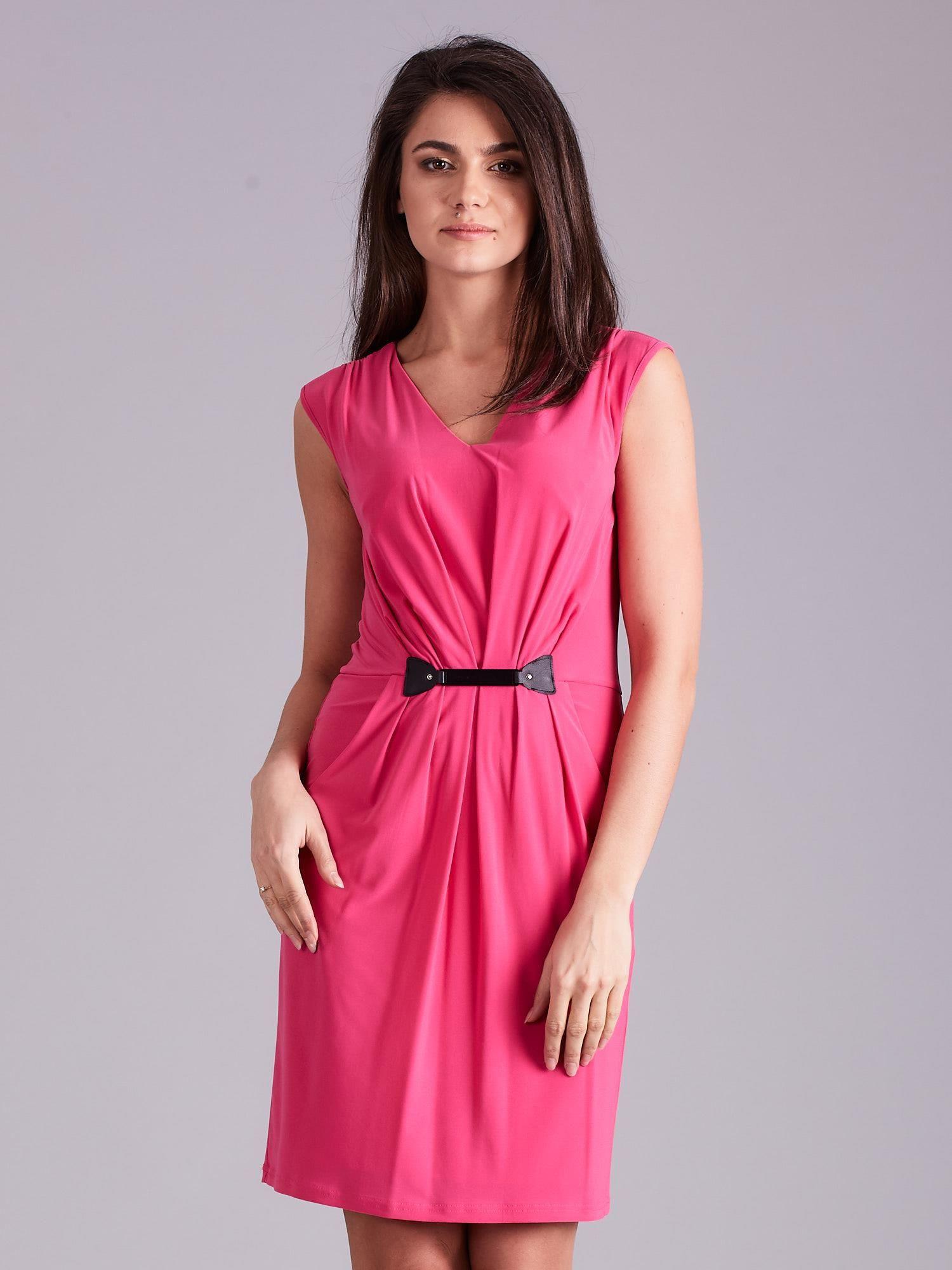 Dámské růžové šaty 36