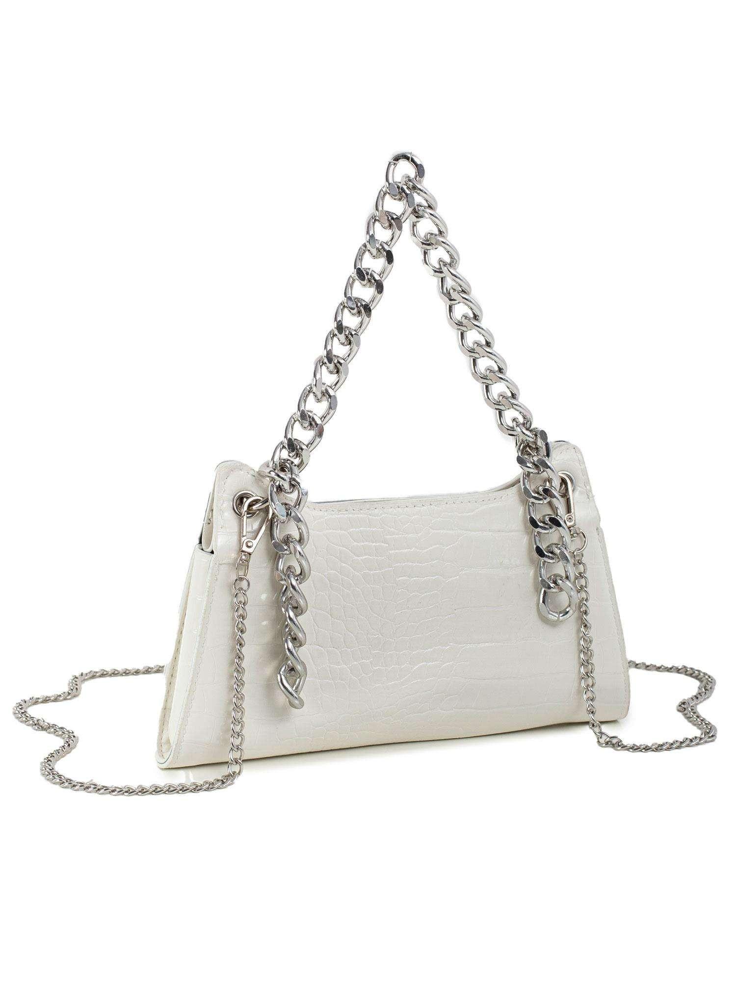 Bílá kabelka z ekologické kůže jedna velikost