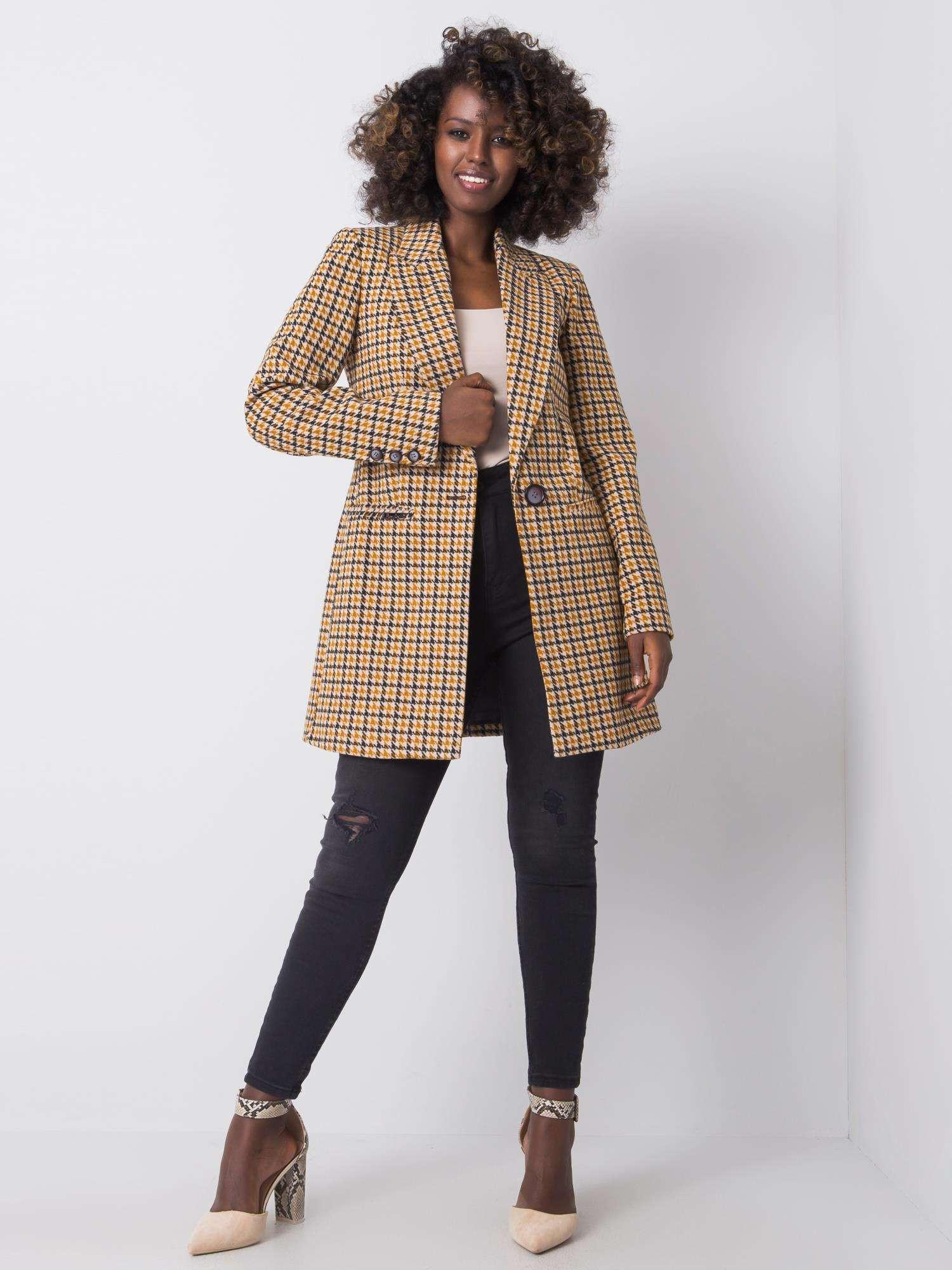 Dámský hnědý a černý kabát XL