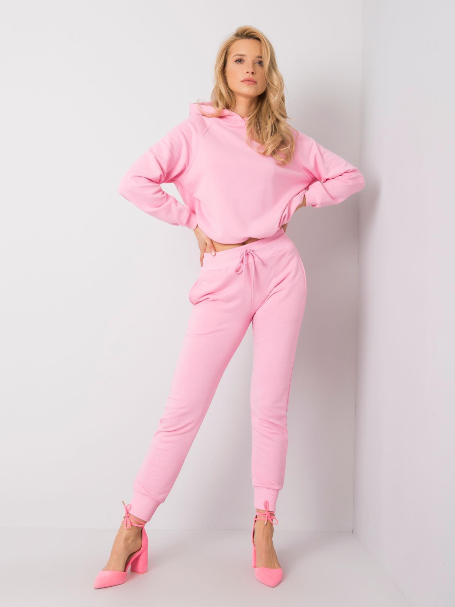 Světle růžová mikina M
