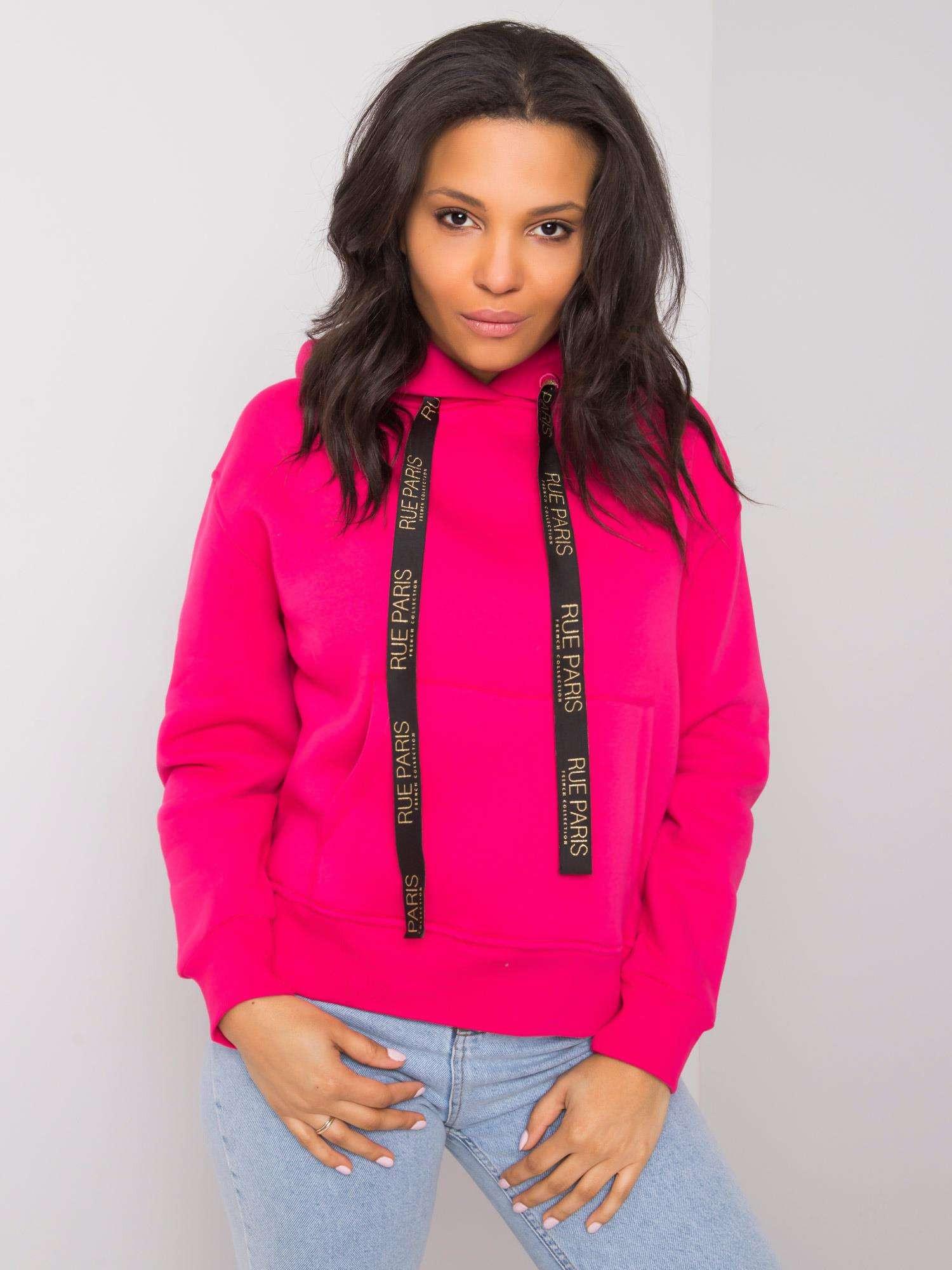 Růžová mikina s kapsou RUE PARIS M
