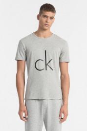 Calvin Klein Pánské Tričko S Logem Šedé