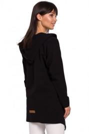 B137 Otevřený přední sako s kapucí