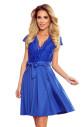 ANNA - Dámské šaty v chrpové barvě s výstřihem a krajkou 242-3