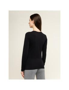 Dámské tričko 163229 9A232 00020 černá - Emporio Armani