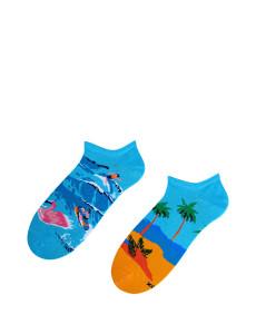 Pánské nepárové kotníkové ponožky Bratex Popsox 8644