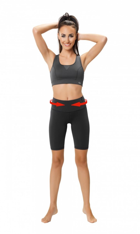 Fitness šortky Slimming shorts - middle