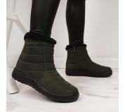 Nepromokavé sněhové boty na zip NEWS W EVE181D khaki