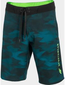 Pánské koupací šortky SKMT202 zelené allover