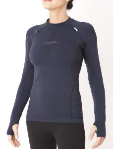 Dámské funkční tričko s dlouhým rukávem UP IRON-IC 1.0 - černé Barva: Modrá, Velikost: