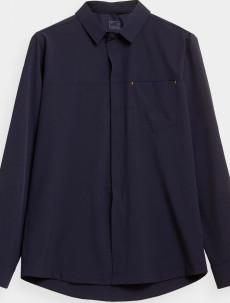 Pánská outdoorová košile 4F KDM060 Tmavě modrá